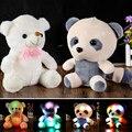 Большой Симпатичные Новый Плюшевый Медведь Панда Кукла Медвежьи объятия Красочный СВЕТОДИОДНАЯ Вспышка Света, Светодиодные Плюшевые игрушки