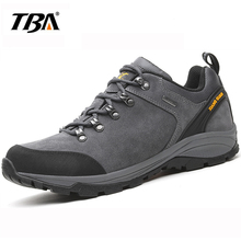 2017 TBA Men's Leather Outdoor Cattlehide Hiking Shoes High Quality Trekking Shoes Breathable Comfortable Climbing Sneakers