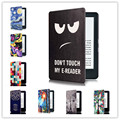 Magnetic fashion printed cover case For Amazon New Kindle 2016 Version  Protective Case for All-New Kindle 8th Generation 2016