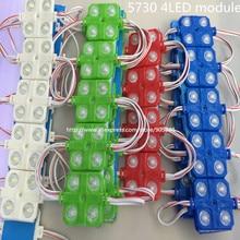 20 шт./лот 5730 4 СВЕТОДИОДА для инъекций светодиодный модуль с линзой, Красочные оболочки ABS, DC12V, 5630 СВЕТОДИОДНЫЙ модуль, водонепроницаемый IP65 4led модуль