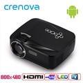 Crenova GP70UP 3D Android 4.4 Proyector 1200 Lúmenes Apoyo 1920x1080 P TV Analógica LLEVÓ el Proyector Wifi Proyector para de Cine En casa