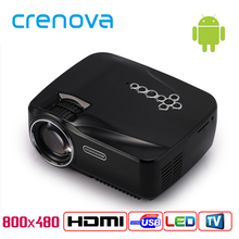Crenova GP70UP 3D Android 4.4 Projector 1200 Lumens Support 1920x1080P Analog TV LED Projector Wifi Projector for Home Cinema