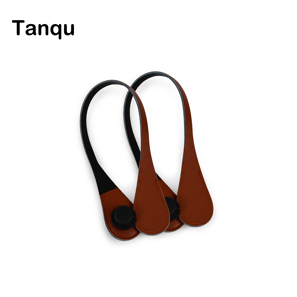 TANQU New short Extra Slim Interchangeable Teardrop Handles Faux Leather Handles for OBag  for EVA O Bag Body tanqu new lacquer short long extra slim interchangeable teardrop handles faux leather handles for obag for eva o bag body