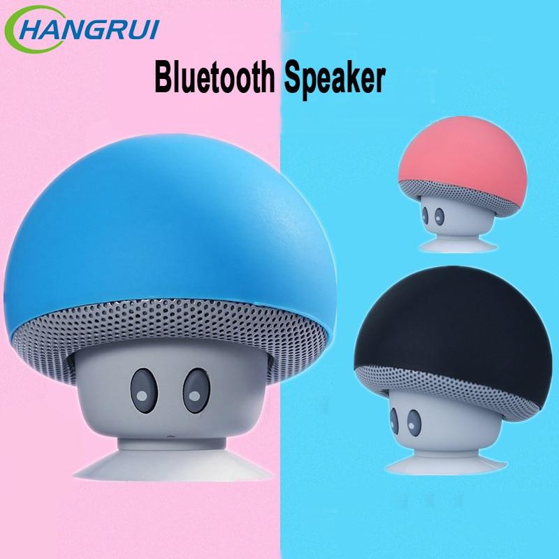 Mini Bluetooth Haut-Parleur Ventouse Stand Champignon Champignons Portable Stéréo Sans Fil Bluetooth Haut-Parleur pour Xiaomi Redemi Note 5 Pro 4X