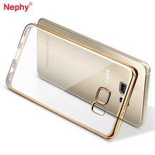 Nephy TPU Case For Samsung Galaxy A3 A5 A7 J1 J3 J5 J7 Prime 2015 2016 2017 S5 S6 S7 Edge S8 Plus Cover Plating Gold Frame Cases стоимость