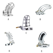 Stainless Steel Cock Cage Male Chastity Device Penis Ring Catheter With Stealth New Lock Adult Sex Toy for Man 40mm/45mm/50mm все цены
