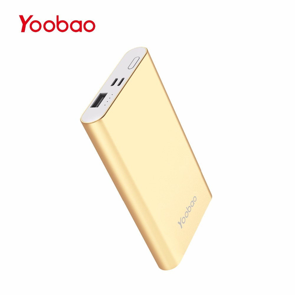 Yoobao Power Bank 10000 mAh Ultra Slim Small Power Bank External Battery PoverBank For XiaomiMi Iphone