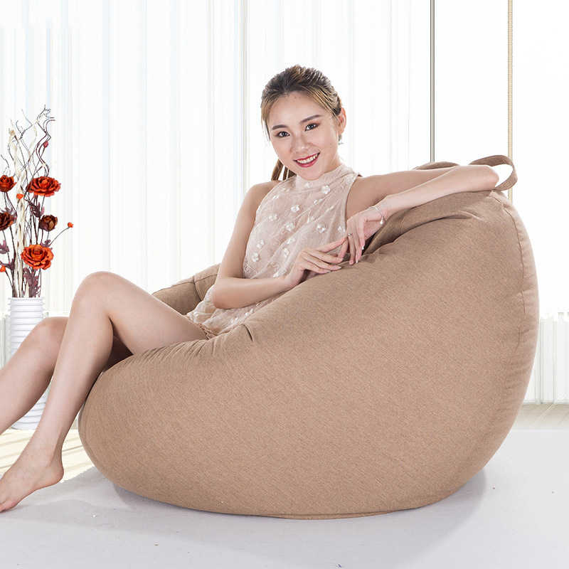 Tampa do Saco de feijão Sofá Cadeira Espreguiçadeira Sofá Pufe Assento Mobília Da Sala de Cama Sem Enchimento Beanbag Pouf Puff Sofá Preguiçoso tatami