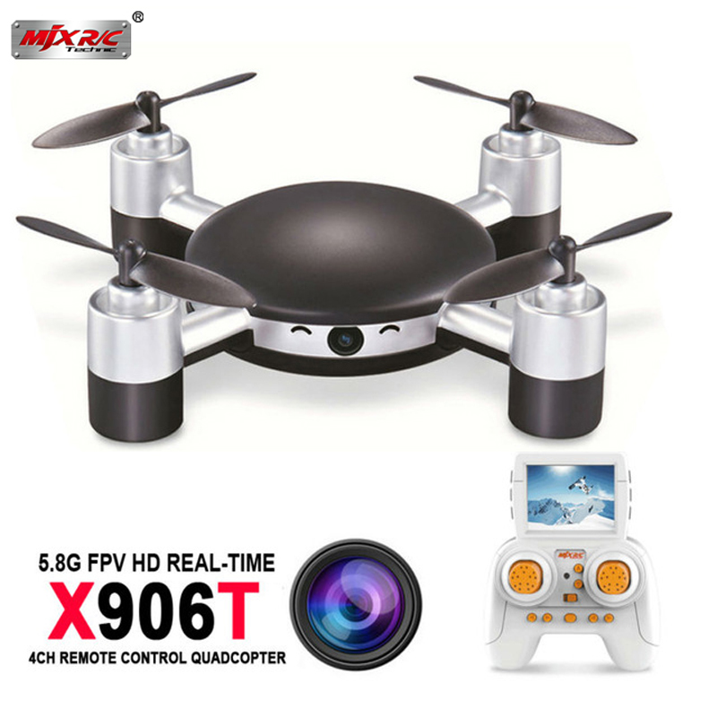 MJX X906T 5.8G FPV RC Drone with HD Camera Built In 2.31 Inches LCD Screen 3D Flips Wind Resistance RC Quadcopter квадрокоптер радиоуправляемый mjx bugs 3