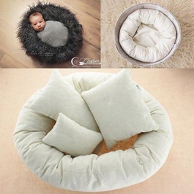 4 stücke Neugeborenen Fotografie Requisiten Zyklus Ring Runde Form Kissen Baby Foto Prop Hintergrund Korb Stuffer atrezzo fotos