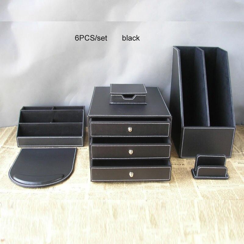 10PCS/set leather business office desk organization set writing ...