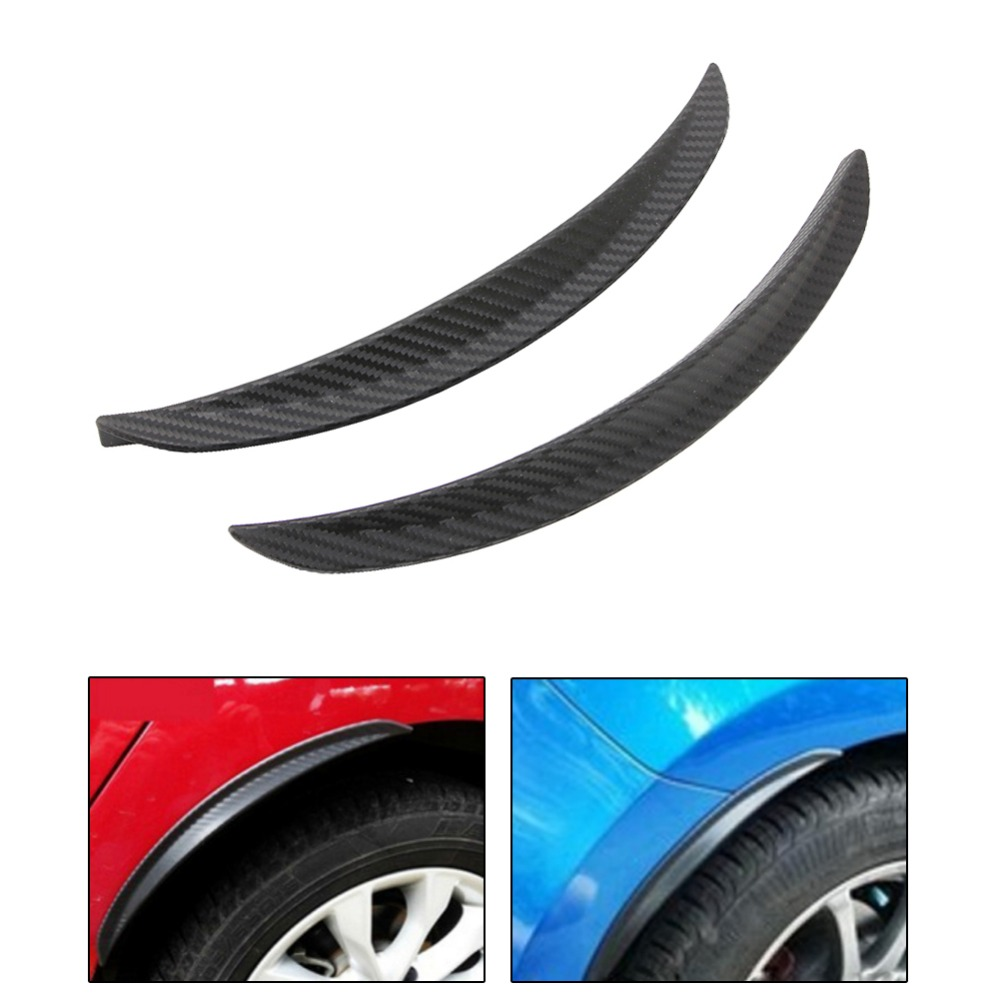<font><b>1</b></font> Pair Carbon Fiber Style Fender Flare Wheel Lip Body Kit Universal For Car Truck Car Mudguard Mud Guard Auto Accessories image