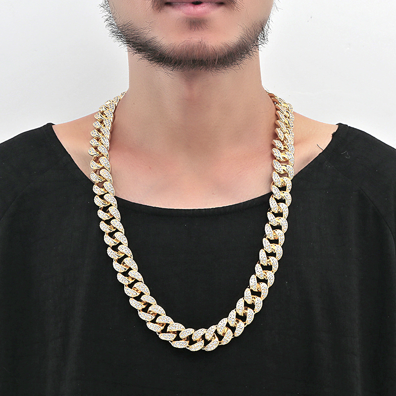 Nankiya Hip Hop Bling Cuban Chain Necklace Choker 18mm Heavy Iced Zirconia Men Hip-hop King Jewelry Necklace Gifts 16-28 NP824 брюки джинсы и штанишки s'cool брюки для девочки hip hop 174059