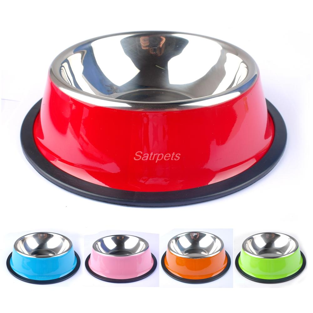 Stainless Steel Puppy Cat Dog Food Drinks