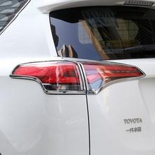 4 шт./компл. ABS Хром сзади хвост лампа фонарь крышка отделка Рамки Стикеры подходит для Toyota RAV4 RAV 4 2016 2017 автомобилей Интимные аксессуары