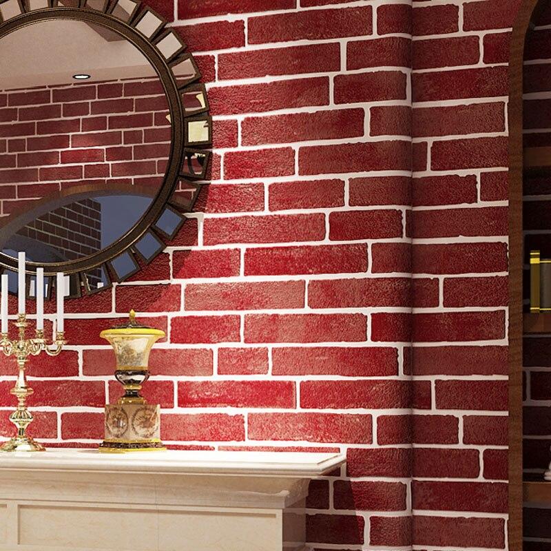3D White Stone Brick Wall Wallpaper Roll Modern Non woven Wall ...