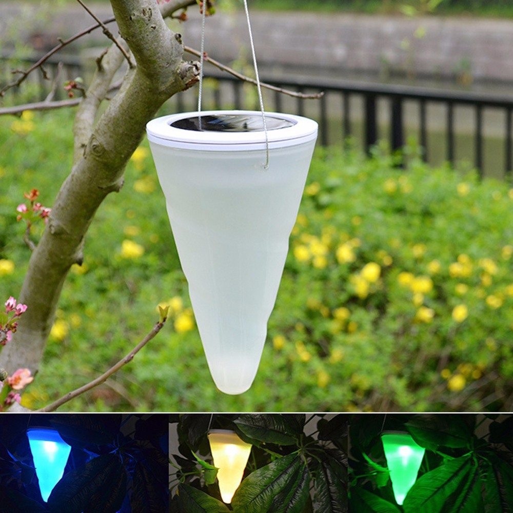 Solar LED Tree Hanging Lights Color Changing Balcony Garden Outdoor ...