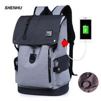 New Oxford Men Backpack Waterproof USB Charging Anti theft Laptop Bagpack Black School Bookbag Multifunction Travel Back Pack