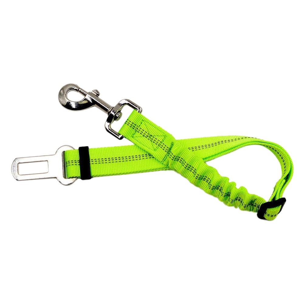 Vehemo Pet Жгут ремень безопасности для животных ремни безопасности для животных нейлон Регулируемый прочный протектор автомобиль кошка собака путешествия удобный - Название цвета: green