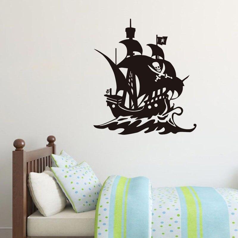 ღ Ƹ̵̡Ӝ̵̨̄Ʒ ღDctop DIY Barco Pirata Adhesivos de pared Decoración ...