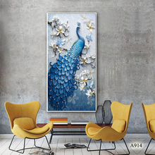 Canvas Art Picture Print Painting Peacock Animal Oil Painting on Canvas Wall Art Picture Painting for Home Decor Canvas Painting 10m linen blend primed blank canvas paper for painting coarse grained oil painting canvasoil painting canvas paper