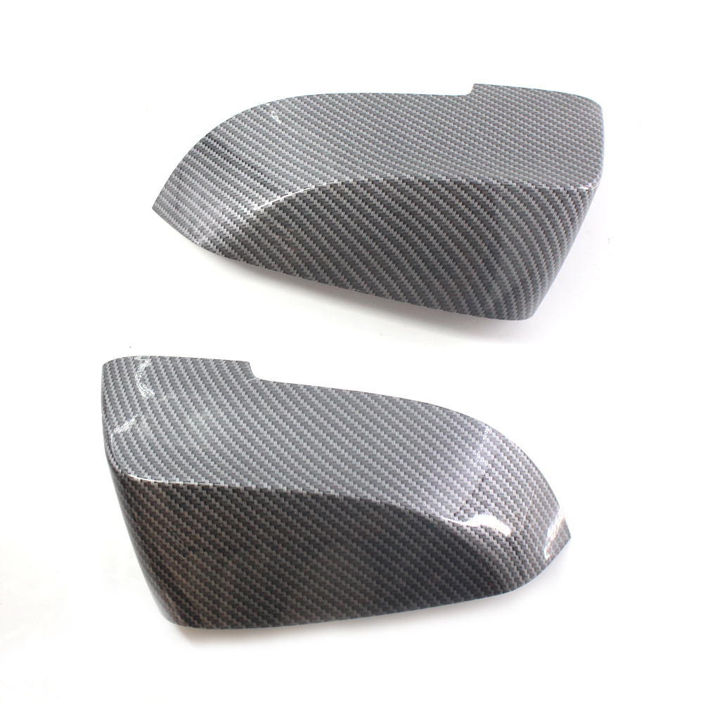 Car Mirror Cover Caps for <font><b>BMW</b></font> F10 <font><b>F11</b></font> 520 523 535 530 2014-2017 LCI Carbon Fiber Pattern image