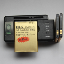 цена на 3 X EB494358VU S5830 Battery 1350mAh + 1 Usb AC LCD Display Battery Charger For Samsung Galaxy Ace S5830 I579 S5838 S5670 S5660