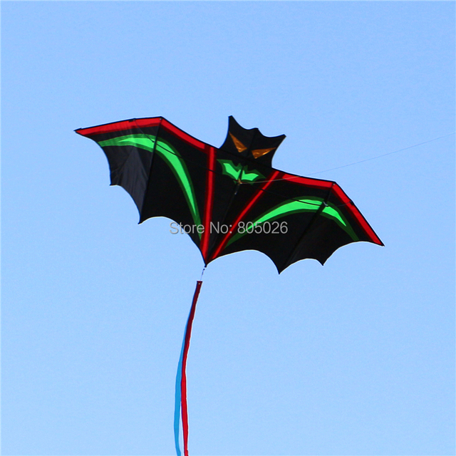 O envio gratuito de alta qualidade Relâmpago morcegos bonito no céu brisa fácil de voar com identificador de linha de pipa wei pipa fábrica