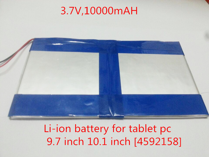 Tablet Pc 3.7v,10000mah (polymer Lithium Ion Battery) Li-ion Battery For Tablet Pc 9.7 Inch 10.1 Inch [4592158] Free Shipping taipower onda 8 inch 9 inch tablet pc battery 3 7v 6000mah 3 wire 2 wire lithium battery