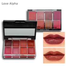 LOVE ALPHA 8 Color Lip Gloss Transparent Nude Colors Moisturizing Nutritious Liquid Matte Lipstick Long Lasting Makeup Cosmetics