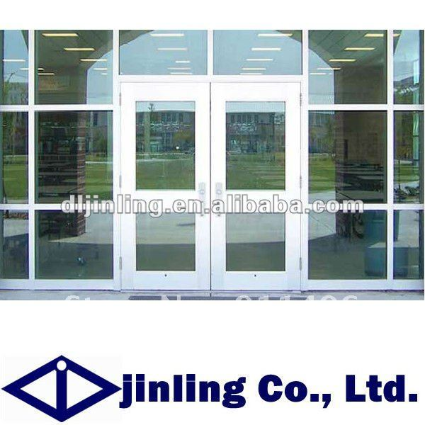 Charmant Aluminum Commercial Double Glass Doors Aluminum Glass Double Entry Doors  Commercial Glass Entry Door