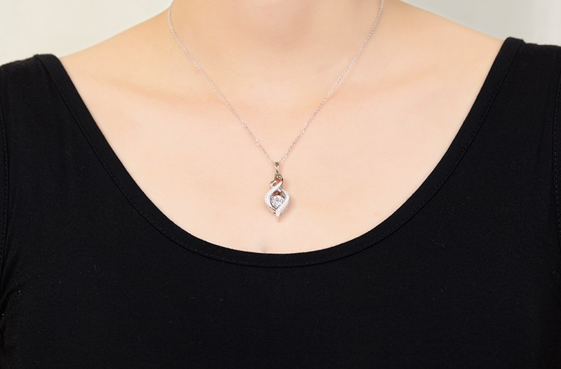 for sterling silver jewelry necklace for women wedding DP18310A (1)