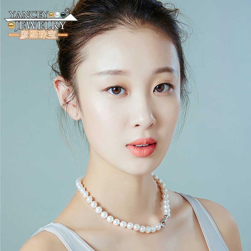 AA + ebene Klassische Mode Perle Halskette 10-11 MM Natürliche Süßwasser Große Perle Halskette Sehr Beliebt Gute kosten leistung Choker