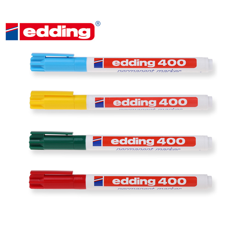 Germany Edding 400 Persistent Markers Pen Laboratory Marker Pen 1.0MM High Temperature Marker Pen 1PCS brand new diy 125khz rfid door access control kit set with electric bolt lock 10 rfid keyfob card full access control system