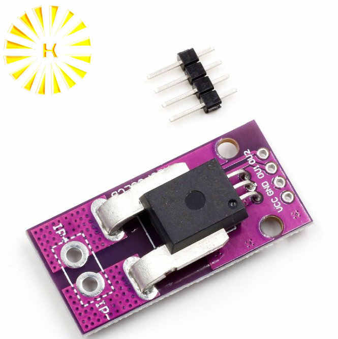 ACS758LCB ACS758LCB-050B-PFF-T Hall Current Sensor Current Module NEW Diy Kit Electronic PCB Board Module Connector