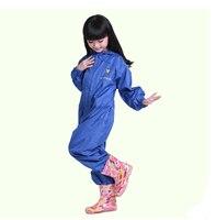 Outdoor bambini impermeabili di Nylon sottile ragazzo ragazza di sport impermeabile Frangivento Rainsuit bambini bambino nastri di sicurezza lustro rainwear