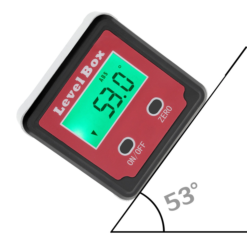 "9/"" Digital Laser Level Angle Finder Incline Protractor Magnetic Base"