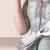Don's Padrão Real de Noiva Festa de Casamento da Luva do Tampão Na Altura Do Joelho Laço de Cetim Bainha Mãe Dos Vestidos de Noiva 2016