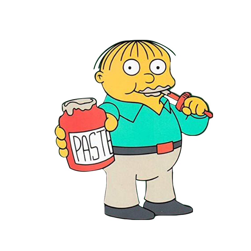 The Simpsons Ralph Eats Paste Pin