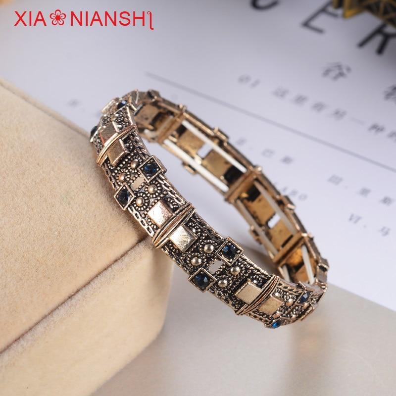 XIAONIANSHI Nueva originalidad antigua pulsera de plata y oro - Bisutería - foto 5