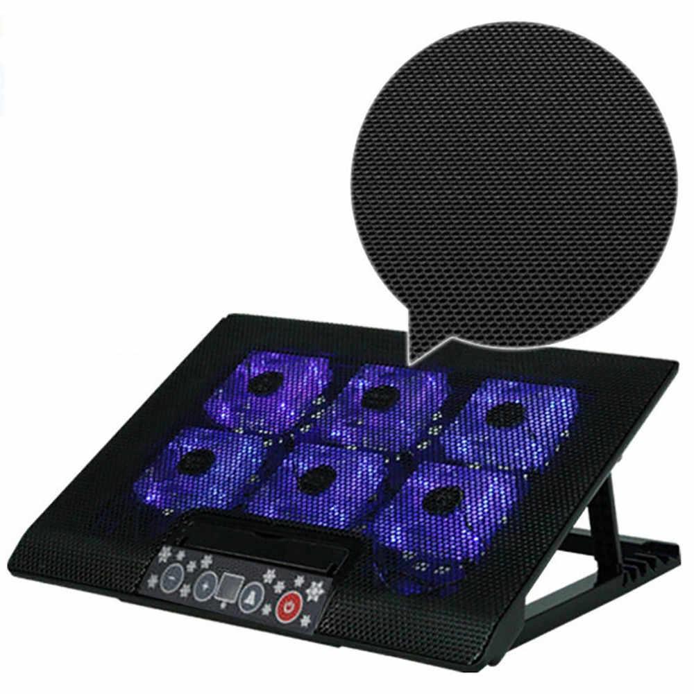 """Светодиодный кулер для ноутбука, регулируемая подставка, USB, 6 вентиляторов, охлаждающая подставка, Кулер для ноутбука 12 """"-17"""", портативный ноутбук L0429 #2"""