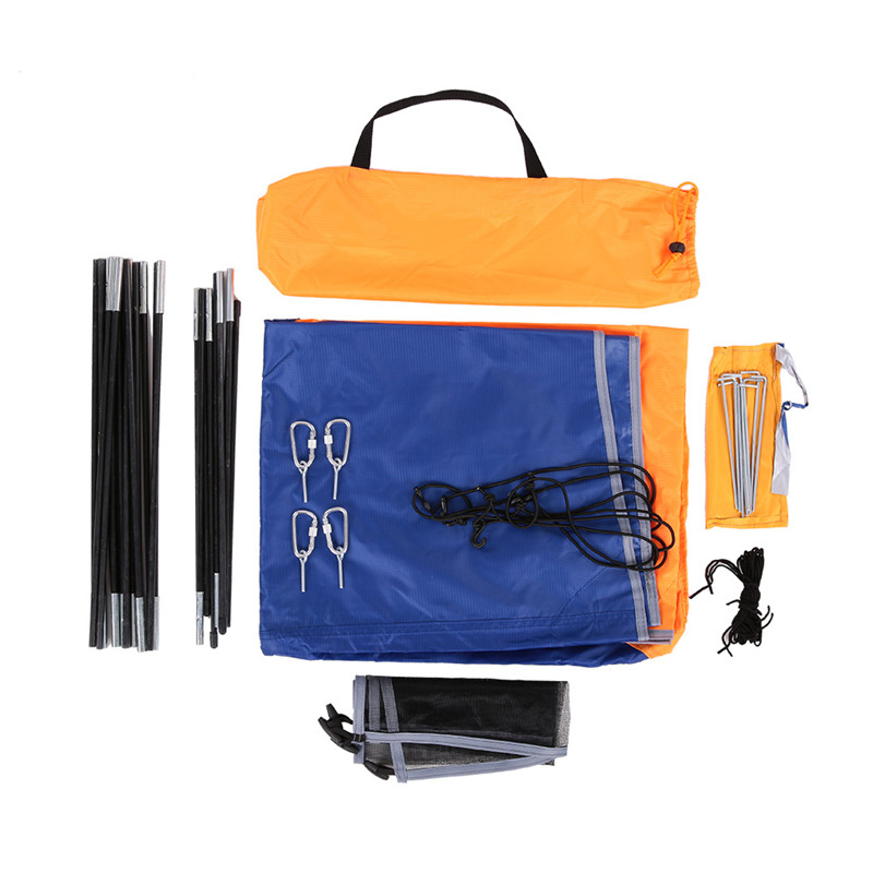 все цены на Portable Kayak Awning Rain Canopy Inflatable Boat Folding Sunshade Tents For 2 3 4 Person 68347 68349 68351 68377 Intex Boats онлайн