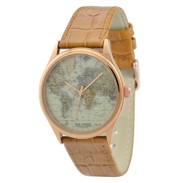 World map watch rose gold free shipping worldwide welcome wholesale world map watch rose gold free shipping worldwide welcome wholesale gumiabroncs Images