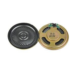 Image 3 - AIYIMA 10 adet Ultra ince hoparlörler 8 Ohm 0.5W boynuz hoparlör 20 23 28 30 36 40 50MM Mini hoparlör Diy