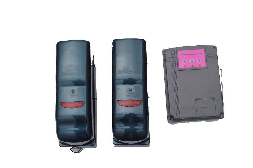 Livraison gratuite roue porte battante ouvreur pour porte unique 300KGs avec boîte de contrôle et 2 télécommandes 220VAC/24VDC système de porte