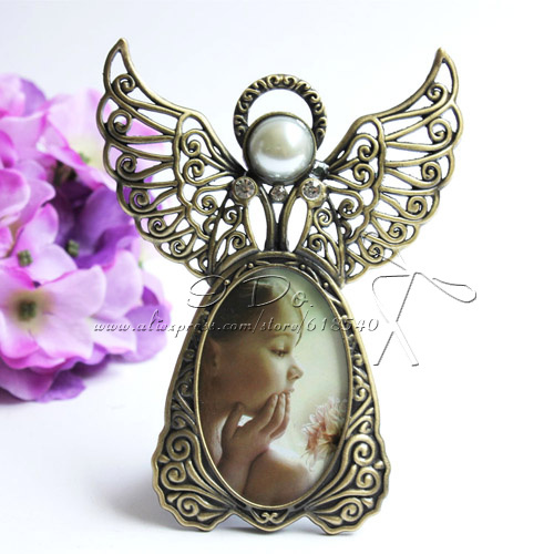 free shipping angel design lovely baby photo frame with rhinestone home decogift
