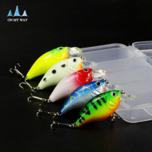 5pcs/lot with box 3D hard fishing bait 7g/5.5cm High Quality Fishing lure 6# Hook Diving Depth 1.2m-2.7m fishing tackle