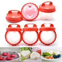 4-8Pcs/Lot Silicone Egg Poacher Portable Egg Cooker Boiler Maker Portable Boiled Egg Cooking Cup Steamed Kitchen Tools Breakfast