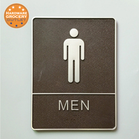 3D Digital Men Toilet Sign With Raised White Tactile Graphic Characters Text And Grade 2 Braille