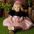 "22 ""adora bebê nascido boneca de vinil macio de alta qualidade princesa boneca de brinquedo de presente da menina"